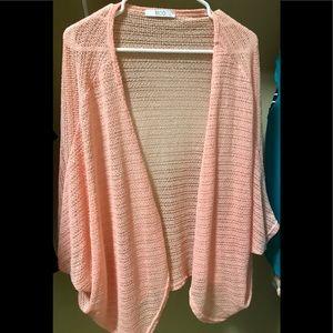 Coral/peach cardigan